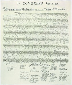 01 Facsimile of  the United States Declaration of Independence (1823)