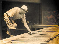 Who Made the First Baseball Bat?