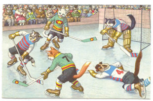 Cat Lovers – Whimsical Sports Mainzer Postcards